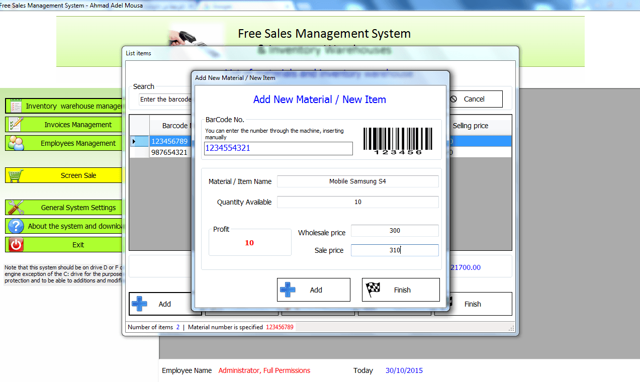 sales and inventory sytem Many companies use inventory systems in their production or retail operations to manage inventory levels inventory might be one of the most valuable assets a company owns and systems to manage it provide the foundation to meet customer demand.